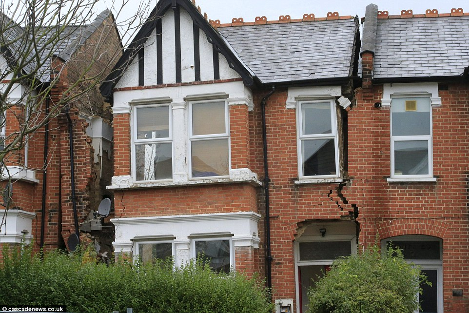A house that was later demolished ((photograph taken from The Daily Mail article)